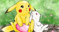 Pikachu and Hase - beloved childhood friends